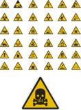 Avvertendo e segnaletica di sicurezza Immagini Stock