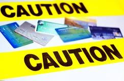 Avvertenza della carta di credito immagine stock libera da diritti