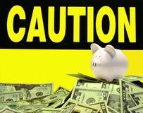 Avvertenza monetaria Fotografia Stock