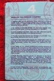 Avvertimenti del passaporto degli Stati Uniti - 2006 Fotografia Stock
