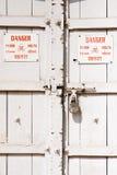 Avvertimento ad alta tensione Immagine Stock