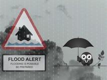 Avvertimento ambrato dell'inondazione Fotografia Stock Libera da Diritti