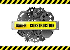 Avvertimento in costruzione della pagina Web Fotografie Stock Libere da Diritti