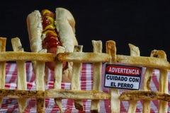 Avvertimento degli alimenti industriali Immagini Stock