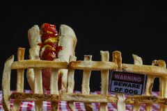 Avvertimento degli alimenti industriali Fotografia Stock Libera da Diritti