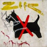 Avvertimento del cane Fotografia Stock Libera da Diritti
