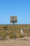 Avvertimento del pinguino Fotografia Stock