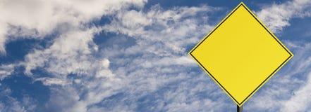 Avvertimento del segnale stradale Fotografie Stock Libere da Diritti