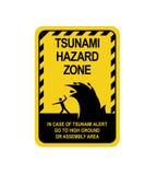 Avvertimento del segno di un tsunami illustrazione di stock