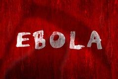 Avvertimento del virus di Ebola Fotografia Stock Libera da Diritti