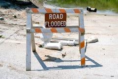 Avvertimento dell'inondazione Fotografie Stock Libere da Diritti