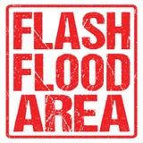 Avvertimento dell'inondazione del segnale di pericolo Orologio di inondazione illustrazione di stock