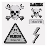 Avvertimento delle icone Fotografia Stock