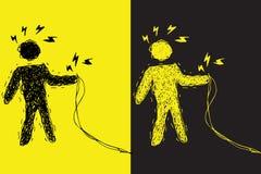 Avvertimento dello shock elettrico Immagine Stock Libera da Diritti