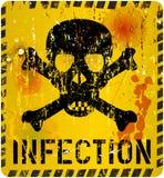Avvertimento di infezione, concetto di sanità Immagini Stock Libere da Diritti