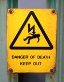 Avvertimento di morte Fotografia Stock Libera da Diritti