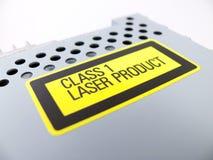 Avvertimento di radiazione di laser Immagini Stock