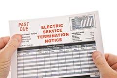 Avvertimento di taglio di elettricità fotografia stock libera da diritti