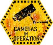 Avvertimento di videosorveglianza Fotografie Stock Libere da Diritti