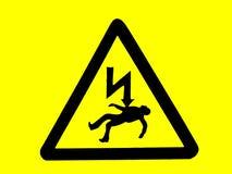 Avvertimento: il pericolo del segno di morte Immagini Stock Libere da Diritti