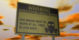 Avvertimento pericoloso di inquinamento Immagine Stock