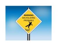 Avvertimento: Segnale stradale probabile ricadente Fotografia Stock Libera da Diritti