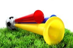 Avvertimento sonoro di gioco del calcio Fotografie Stock Libere da Diritti