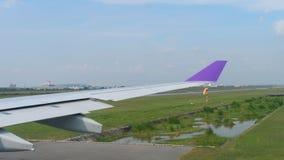 Avvikelse från den Suvarnabhumi flygplatsen, Bangkok arkivfilmer