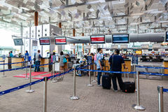 Avvikelse Hall för Changi flygplatsterminal 3 Arkivbilder