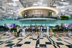 Avvikelse Hall Singapore Changi för internationell flygplats Royaltyfri Foto