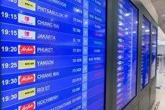 Avvikelsebräde i Don Muang International Airport Thailand Royaltyfri Bild