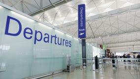 Avvikelsekorridor i flygplats lager videofilmer
