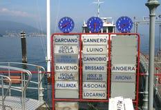 Avvikelsepir av fartygen i Italien royaltyfria foton