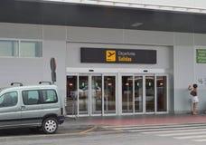 Avvikelser på Murcia San Javier Airport Fotografering för Bildbyråer