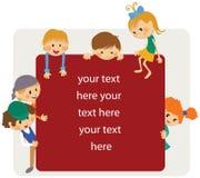 Avviso del blocco per grafici dei bambini royalty illustrazione gratis