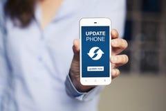 Avviso del telefono dell'aggiornamento immagine stock libera da diritti