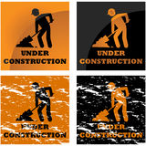Avviso della costruzione illustrazione vettoriale