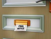 avviso di finale 3d royalty illustrazione gratis
