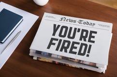 Avviso di licenziamento Fotografia Stock