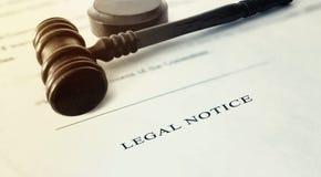 Avviso legale Fotografia Stock Libera da Diritti