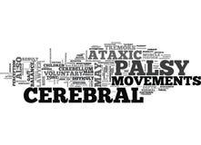 Avvocato Ataxic Word Cloud di paralisi cerebrale illustrazione di stock