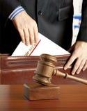 Avvocato in aula giudiziaria immagini stock libere da diritti