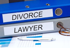 Avvocato di divorzio Fotografie Stock Libere da Diritti