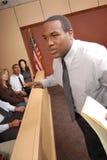 Avvocato e giurati Fotografia Stock Libera da Diritti