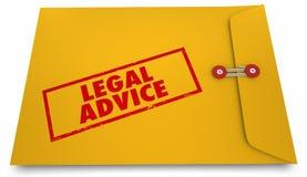 Avvocato Information Envelope 3d Illustratio dell'avvocato di consiglio legale royalty illustrazione gratis