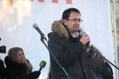 Avvocato Pussy Riot Nikolai Polozov Fotografia Stock Libera da Diritti