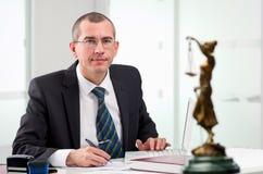Avvocato sul suo posto di lavoro Immagine Stock Libera da Diritti