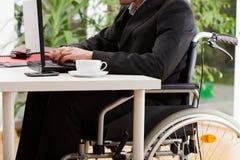 Avvocato sulla sedia a rotelle Fotografia Stock