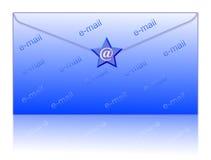 Avvolga ed invii con la posta elettronica il simbolo Immagine Stock