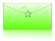 Avvolga ed invii con la posta elettronica il simbolo Immagini Stock Libere da Diritti